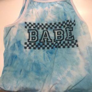 """"""" babe"""" Crop top"""
